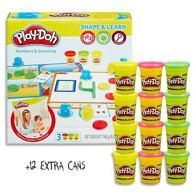 Play Doh Shape & Learn - Numbers Counting Set & 12 Dough Cans  Kids Toys Ages 2+