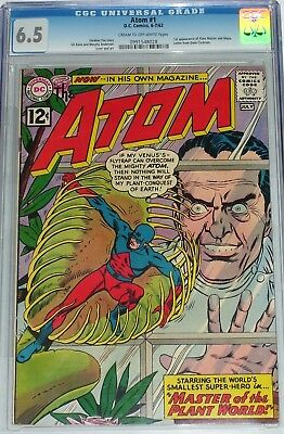 Atom #1 CGC graded 6.5 from July 1962 1st appearance of Plant Master and Maya