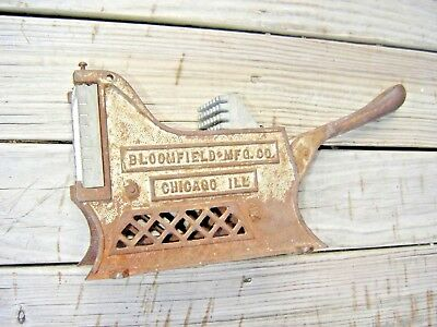 Vintage Cast Iron Potato French Fry Cutter  Bloomfield Mfg Co. Chicago Ill 9690