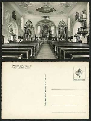 Germany Old RP Postcard BLACK FOREST St. Maergen Church