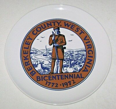 Vintage Berkeley County West Virginia Bicentennial Mountaineer Plate 1772-1972