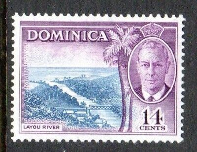1951 DOMINICA 14c Layou River SG129 mint unhinged