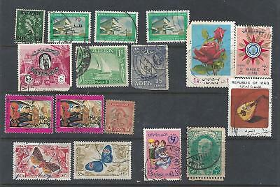 Lot of mixed Middle East STAMPS  used