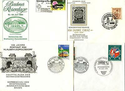 Austria 1980's 4 Special Events, Handstamps, Postmarks Covers #C47369