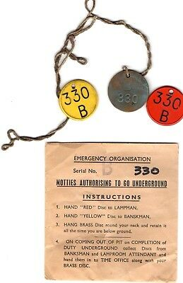 Coal Mining Set of 3 Emergency Service Pit Checks Number 330