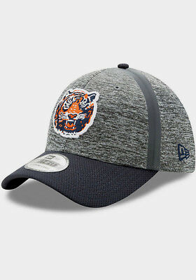 Detroit Tigers Mlb New Era 39Thirty Clubhouse Stretch Fit Gray/navy Hat/cap Nwt