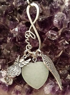 Wow - New Style Angel & Large Wing & Green Adventurine Gemstone Pendant