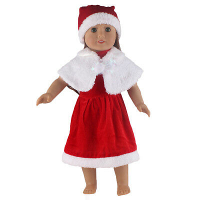 1 Set Christmas Costume Dress Uniform Outfit For 18 inch American Girl Doll