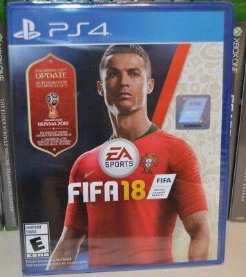 PS4 FIFA 18 Soccer Futbol 2018 NEW Sealed REGION FREE USA World Cup Russia