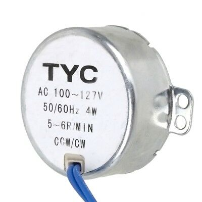 Turntable Synchronous Synchron Motor 50/60Hz AC100-127V 4W 5-6 RPM 1Pc