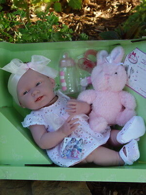 """New ~ JC Toys  Berenguer 18059 ~ La Newborn  Real Girl 15"""" Doll With Accessories"""