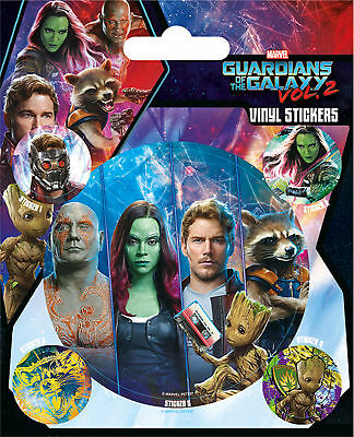 Guardians of the Galaxy - Stickerset Set 5 Sticker Aufkleber - ca. 10x12,5 cm