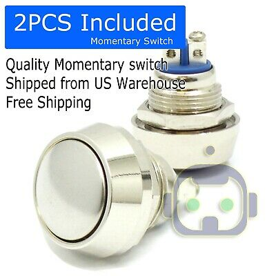 New 12mm Metal Boat Horn Momentary Push Button Stainless Steel Starter Switch