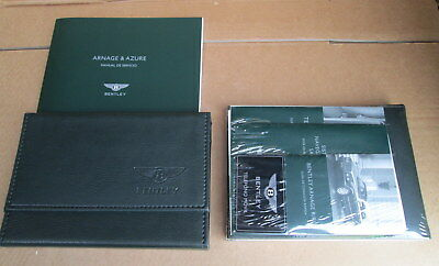 New Bentley Arnage Red Label Service Hand Book Wallet Pack Mexico 3Z4012003A