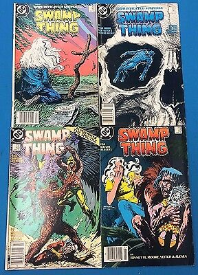 SWAMP THING lot of (4) issues #55 #56 #58 #59 (1986/1987) DC Comics VG+/FINE-