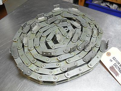qty 15'- Renold Conveyor Roller Chain C2060H w/A2 Attachment, Double Pitch new