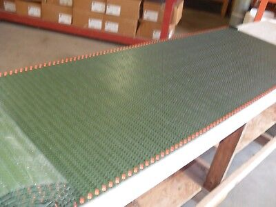 "QTY 12' 6"" long x 24"" wide, conveyor plastic chain belting,Green Rexnord??"