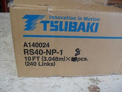Qty 80ft - TSUBAKI RS40-NP-1 - A140024 8-10' packages factory sealed