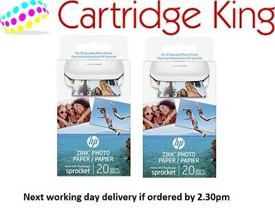 HP Zink Photo paper - 2 packs of 20 sheets for HP Sprocket