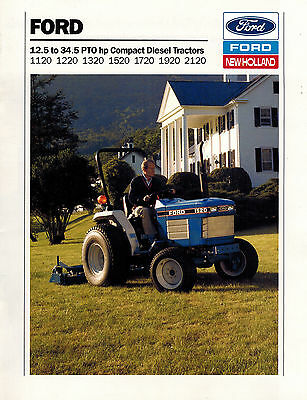 ford 1120 to 2120 compact diesel tractor sales brochure 1990