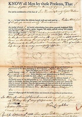 1803, Kittery, Maine, William Leighton, land sale, General Andrew Fernald signed