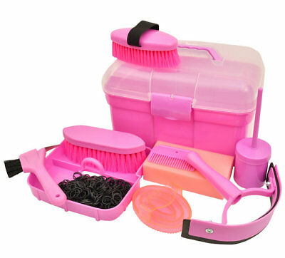 Roma Ultimate Grooming Kit 10 Piece Horse Grooming Set - Pink NEW