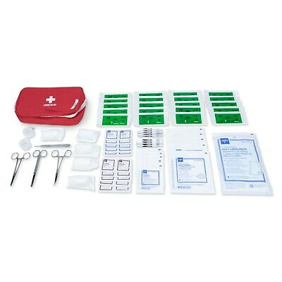 Advanced Surgical Suture First Aid Kit, Medical Trauma Survival Pack - 76 Piece