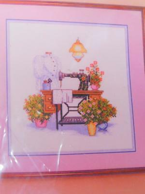 KAPPIE Originals Counted Cross Stitch Kit THE SEWING ROOM Antique Sewing Machine