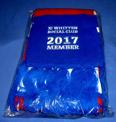 2017 New In Pack Western Bulldogs AFL Football Footy WHITTEN Members Scarf + Pin