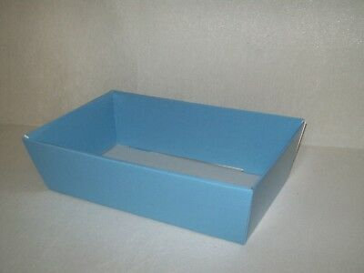 "❤ 11"" Baby Blue Cardboard Hamper Tray Gift Box Baby Shower New Born Birthday"