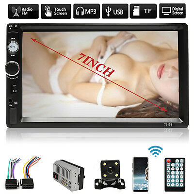 7'' HD Double 2 Din Car MP3/MP5 Player 1080P Touch Screen Radio Stereo FM+Camera
