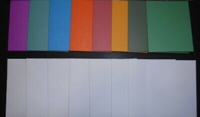 DIY CARDS -10 Blank PASTEL COLOURED Textured MINI CARDS - 10 Handmade Envelopes