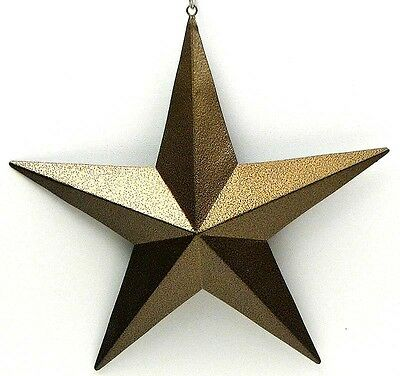 """Gold  Metal Star 5"""" ( Set of 6)  Wall Hanging Plaque Sign Western Decor"""
