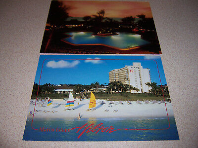 1990s HILTON HOTEL MARCO ISLAND BEACH RESORT FLORIDA FL. VTG POSTCARD LOT