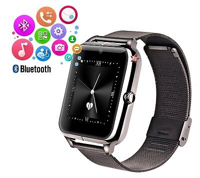 SmartWatch Reloj Teléfono ANDROID IOS Wireless Bluetooth Sim Micro SD Negro