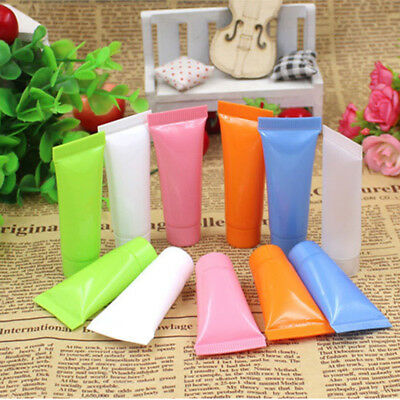 10PCS Empty Mini Travel Tube Cosmetic Small Hand Cream Lotion Containers Bottle