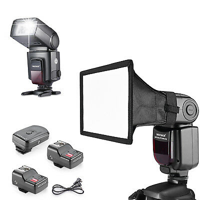 Neewer TT560 Speedlite with Trigger and Dome Flash Light Softbx Diffuser Kit