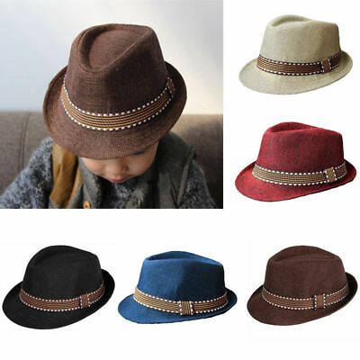 Baby Kids Boy Fedora Gangster Hats Children Top Hat Jazz Cap Spring/Autumn