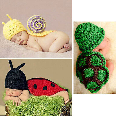 Baby Infant Aminal Knitted Crochet Photography Beanie Hat Cap Props Costume