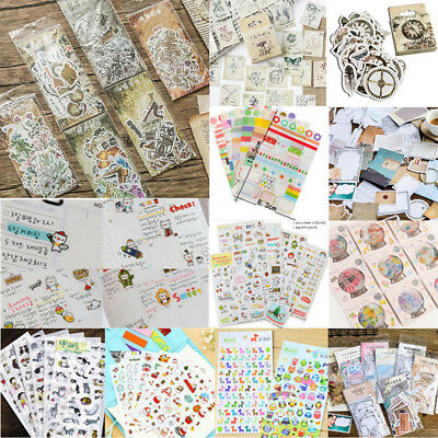 Hot!! DIY Paper Calendar Scrapbook Album Diary Book Decor Planner Sticker Craft