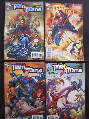 "TEEN TITANS : issues 51,52,53,54, ""Titans of Today"" complete 4 issue story. 2007"