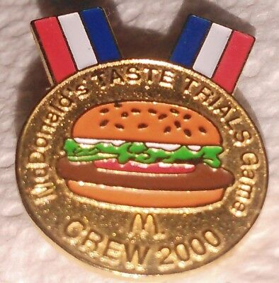 McDonald's collectible lapel hat employee pin Taste Trials Game Crew 2000