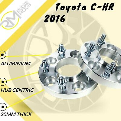 Toyota C-HR 2016 on 5x114.3 60.1 20mm Hubcentric wheel spacers 1 Pair
