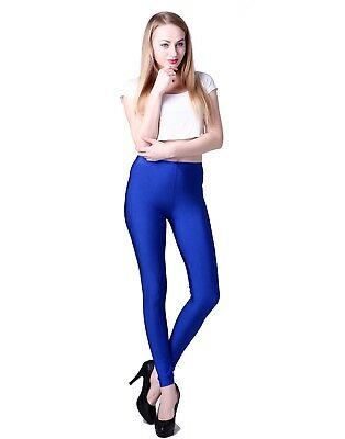Women's Shiny Leggings Solid Color Vibrant High Waist Fashion Stretch Pants