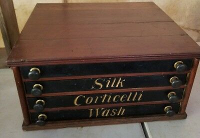 Corticelli Thread Cabinet 4 Drawer Spool  Excellent