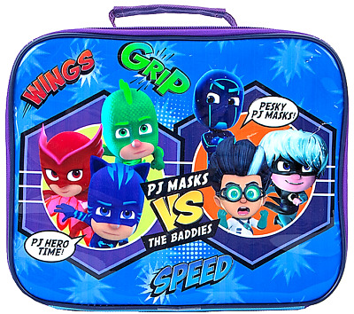 PJ Masks Lunch bag Kids Insulated Childrens Cool School Packed Picnic Fabric Box