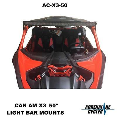"Can Am Maverick X3 Max 50"" LED light bar brackets mounts #AC-X3-50"