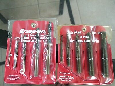 Snap On, Blue Point Left Hand Drill Bit Sets In Good Shape
