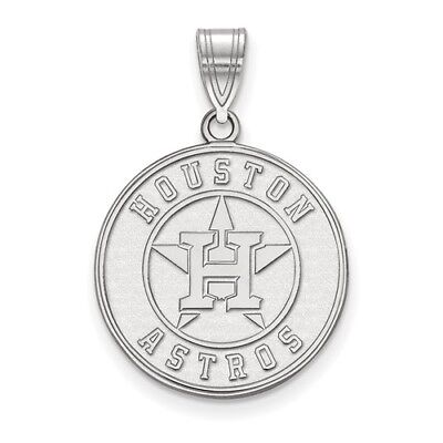 Houston Astros Sterling Silver Large Logo Disc Pendant