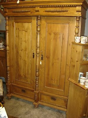 Antique Pine Wardrobe This primitive wardrobe has some Victorian tendencies 7562